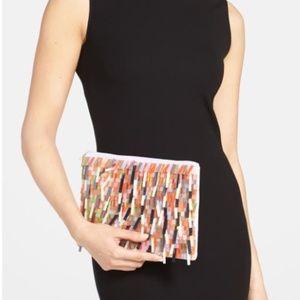 Berry Sequin Fringe Clutch for Women